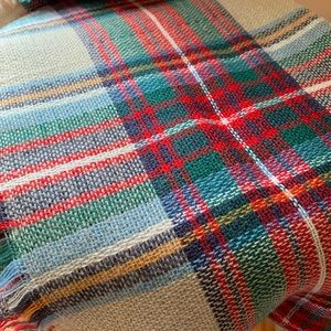 Large Plaid Blanket Scarf